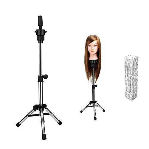 WAM Direct Mini Adjustable Tripod Stand Holder Hairdressing Training Head Mold Mannequin Salon Hair Clamp with a beautiful box