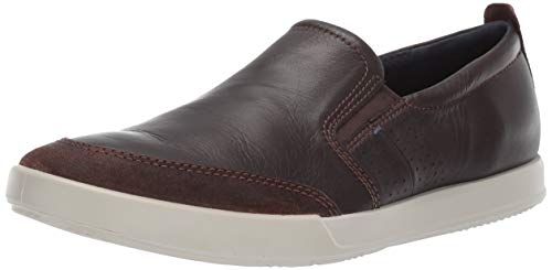 - ECCO Men's Collin 2.0 Slip On Sneaker, Suede/Coffee, 39 M EU (5-5.5 US)