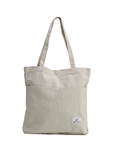 Natural Canvas Zippered Tote Bag (Sornean Reuseable Heavy Duty 16 OZ Canvas Tote Bag for Shopping and Grocery (Natural))
