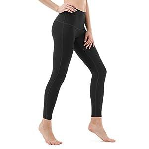 TM-FYP52-BLK_X-Large Tesla Yoga Pants High-Waist Tummy Control w Hidden Pocket FYP52