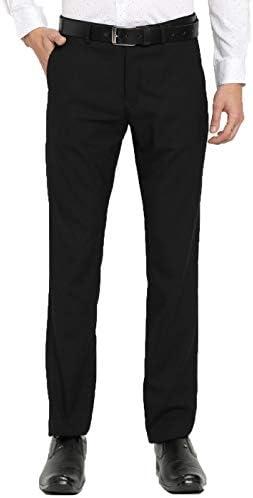 American-Elm Black Formal Trouser for Men Slim Fit Black Office Pants for Daily Office