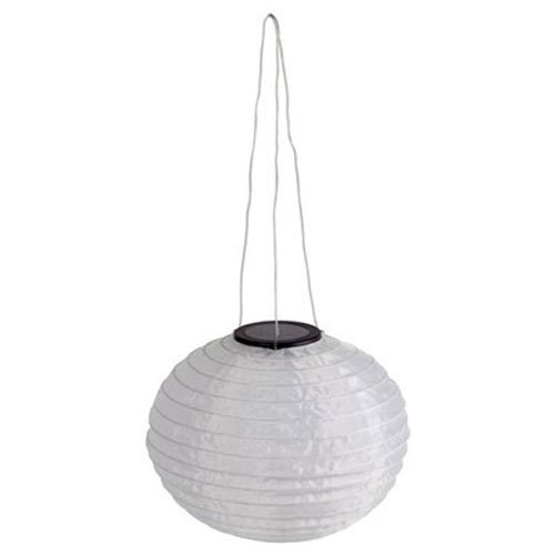 JIAWEI TECHNOLOGY DHO005-R2-BB-A1 Four Seasons Courtyard White Solar Fabric Hanging Lantern