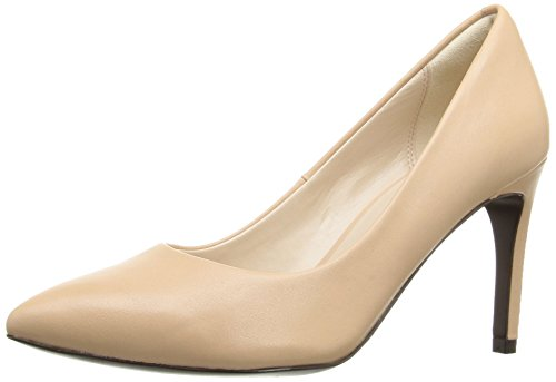 Cole Haan Women's Amelia Grand 85mm Dress Pump, Nude Leather, 9.5 B US