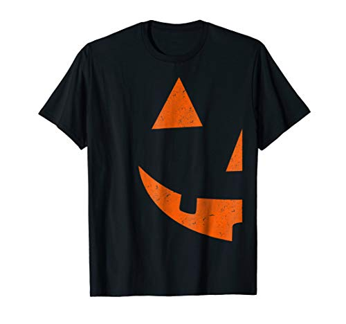 Mens Jack O Lantern T-shirt Jackolantern Couple Halloween Costume Large Black