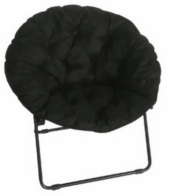 Pack of 4 - Zenithen Limited Round Pad Dish Chair, Black by ZENITHEN LIMITED