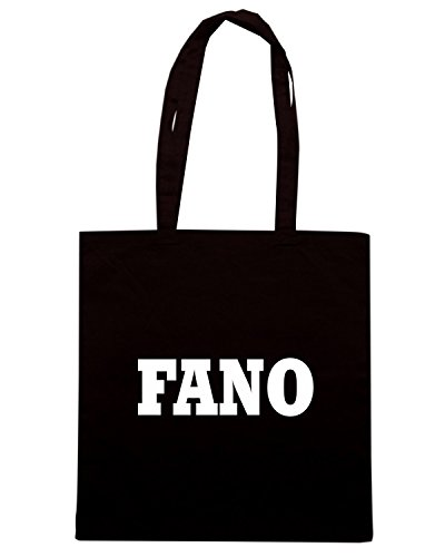 T-Shirtshock - Bolsa para la compra WC0957 FANO ITALIA CITTA STEMMA LOGO Negro
