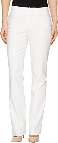 Bootcut Cotton Trousers (Liverpool Women's Graham Bootcut Trousers in Bright White Bright White 10 33)