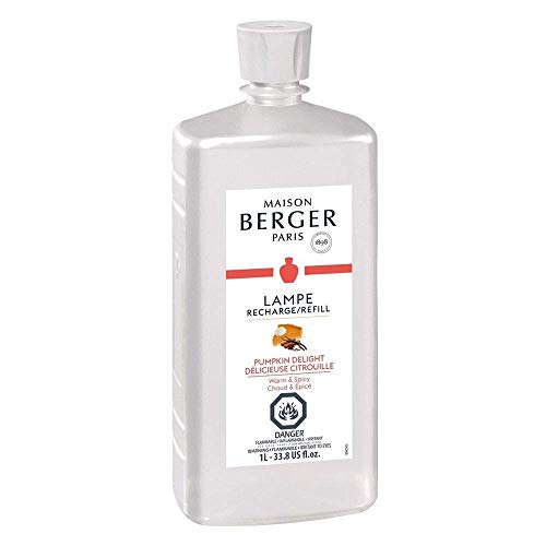 - Pumpkin Delight | Lampe Berger Fragrance Refill for Home Fragrance Oil Diffuser | Purifying and perfuming Your Home | 33.8 Fluid Ounces - 1 Liter | Made in France