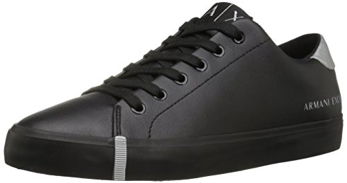 A | X Armani Exchange Donna In Eco Pelle Moda Sneaker Nera