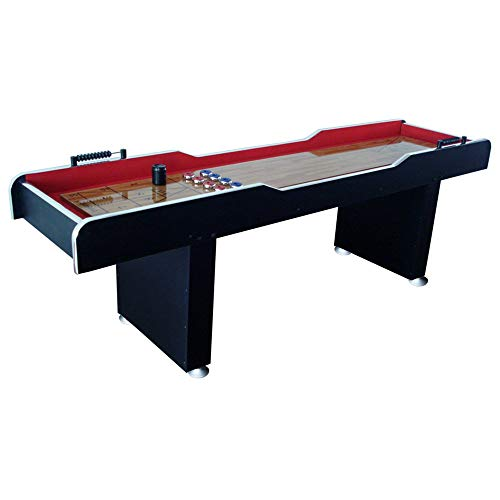 MD Sports 8' Poly-Coated Surface Home Gameroom Shuffleboard Table with Pucks ()