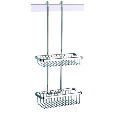 Geesa Geesa 253-638845266871 Double Basket Collection Shower Basket, Chrome Geesa Basket