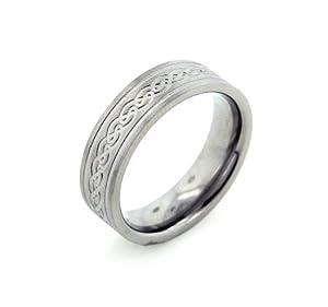 mens celtic knot wedding bands. 6mm wide mens and womens titanium etched celtic knot wedding band ring(sizes 6,7,8,9,10,11,12,13,14) bands