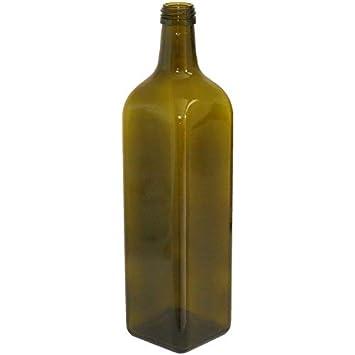 24 botellas de vidrio oscuro Uvag - Botellas Marasca para aceite, licor - Capacidad 250
