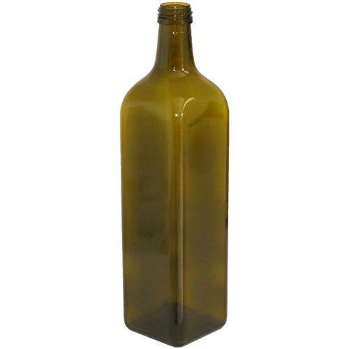 24 botellas de vidrio oscuro Uvag - Botellas Marasca para aceite, licor - Capacidad 250 ml, con tapón: Amazon.es: Jardín