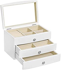 related image of SONGMICS Jewelry Box, Wooden Jewelry Case, 3