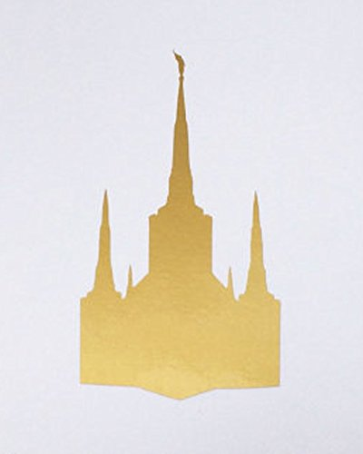 Portland Temple Picture 8x10 Gold Vinyl