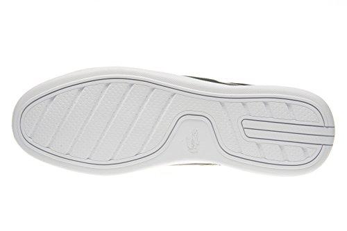 Lacoste Zapatillas de Skateboarding de Piel Lisa Para Hombre Gris Gris
