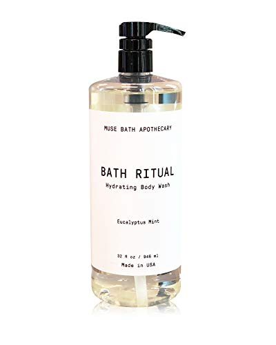 Muse Bath Apothecary Bath Ritual - Aromatic and Hydrating Body Wash, 32 oz, Infused with Natural Essential Oils - Eucalyptus Mint ()