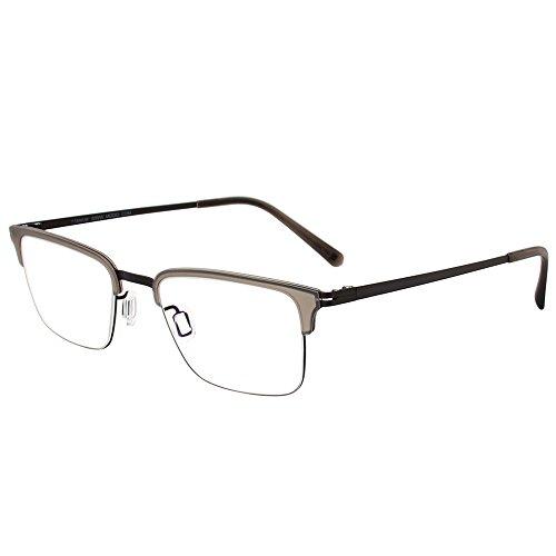 Modo 4062 GRYCR Grey Crystal Titanium Rectangular Eyeglasses 50mm