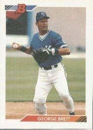 (1992 Bowman George Brett Baseball Card Baseball Card #500 George Brett)