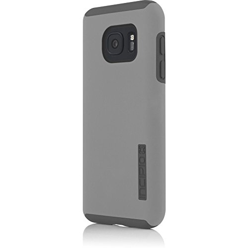Samsung Galaxy S7 case, Incipio DualPro, Hard Shell Case with Impact-Absorbing Core Shock-Absorbing Impact-Resistant Dual-Layer Cover - Gray/Gray