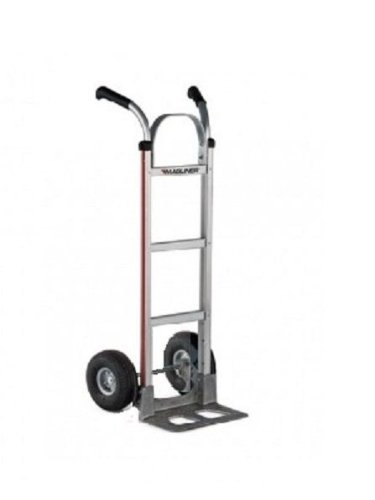 Magline HMK116UA4 Aluminum Hand Truck, Flared Double Pistol Grip Handle, Pneumatic Wheels, 500lbs Capacity by Magliner