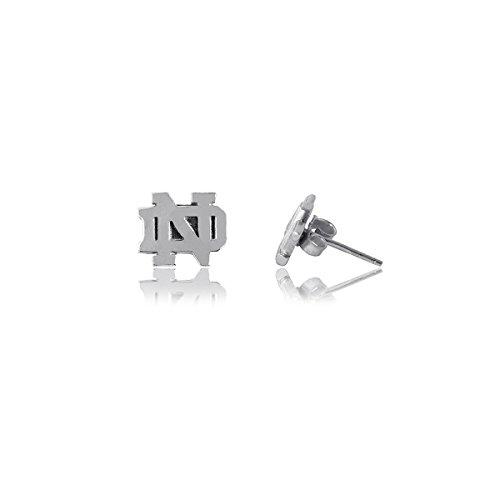 Dayna U University of Notre Dame Fighting Irish UND Sterling Silver Jewelry (Stud Earrings)