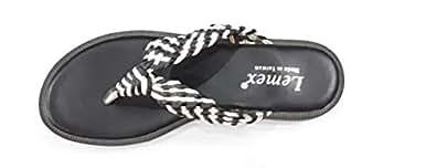 LEMEX Black Thong Slipper For Women