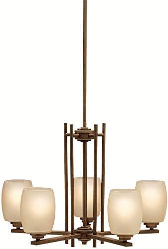 Kichler 1896OZ Chandelier Lighting, Bronze 5-Light 24 W x 17 H 500 Watts