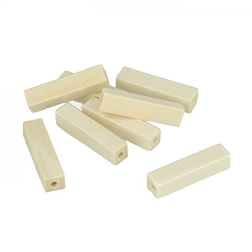 Youdoit 10 wood beads rectangular 25 x 10 mm Rectangular Wood Beads