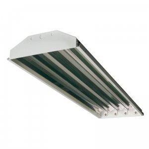 4-lamp T5 HO High Bay Fluorescent Lighting Fixture High Outp