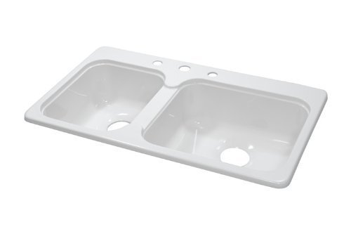 Lyons Industries DKS01SB3 Designer White 33-Inch by 19-Inch Single Acrylic 7.25-Inch Deep Kitchen Sink by Lyons Industries