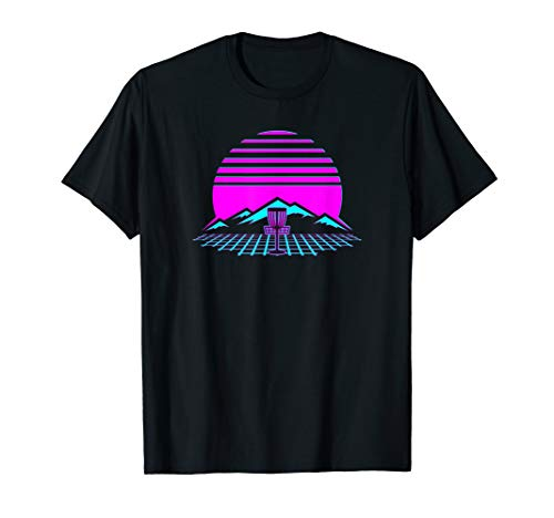 (Disc Golf Retro Vintage 80s Style Frisbee Player Gift T-Shirt)