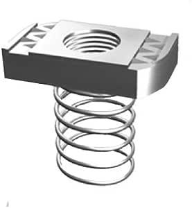 "Superstrut Steel A100 1//4/"" Galv.Zinc Finish Spring Nuts L@@k!! 100pk"