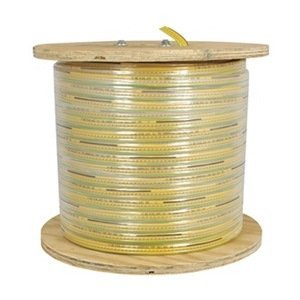 KH Industries FTCB-16/12-130 Flat Festoon Cable, PVC Jacket, 12 Conductor, 16 AWG, 130' Length, Yellow