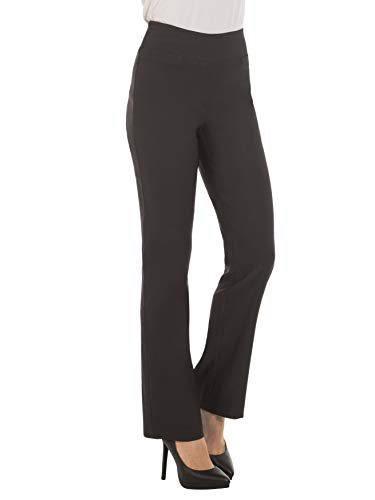 - Red Hanger Bootcut Dress Pants for Women -Stretch Comfy Work Pull on Womens Pant Charcoal-L
