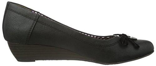s.Oliver 22300, Zapatos de Tacón para Mujer Negro (Black 1)