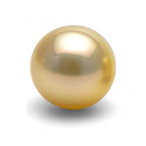 Single Cultured Golden South Sea Loose Pearl, 12.0-13.0mm, AAA Quality, - Quality Sea Pearl South Golden