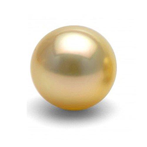 Single Cultured Golden South Sea Loose Pearl, 12.0-13.0mm, AAA Quality, - Quality Sea Golden Pearl South