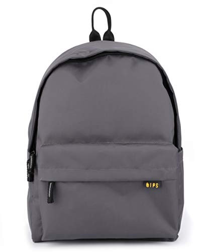 QIPS by HMI 21L | 16 Inch Classic Backpack with YKK Zippers, Grey