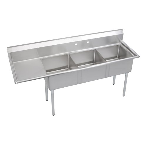 Super Economy Scullery Sink, 3-Compartment 14
