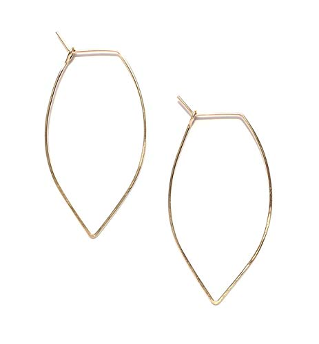 April Soderstrom Featherweight Leaf Earrings, Small, Gold