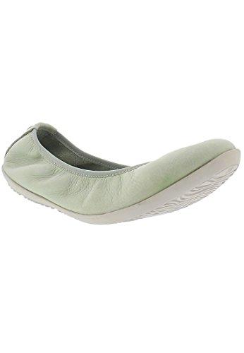Softinos Femme Green Fermé Bout Washed Grün Oki451sof Pastel Ballerines fxFfr