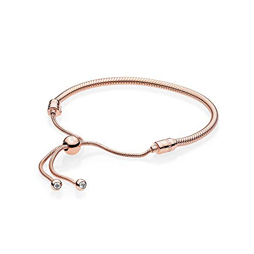 PANDORA Rose Sliding Bracelet, Clear CZ (Bracelet Clasp Pandora Gold With)