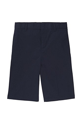 French Toast Big Boys' Basic Flat Front Short With Adjustable Waist, Navy, 10 French Toast Boys Shorts
