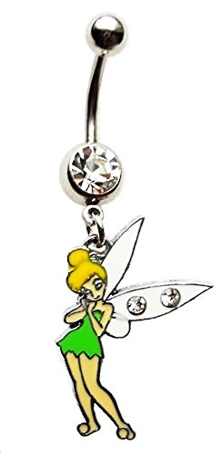 TINKERBELL FAIRY Clear Navel Belly Button Ring Body Jewelry Piercing