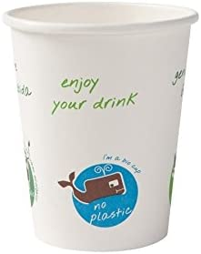 BIOZOYG Vaso orgánica descartable para Bebidas Calientes I Vaso ...