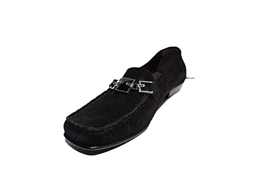 (Stuart Weitzman Women's Challismoc Black Suede Jeweled Loafer,Shoes Size 5.5 M)