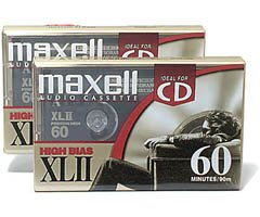 Xlii Audio Cassettes - Maxell XL-II C60 Blank Audio Cassette Tape (2 pack) (Discontinued by Manufacturer)