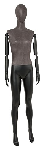 Newtech Display MAF-ARM2-1/BLLE Female Mixed Material Mannequin with Black Leatherette Head and Torso by Newtech Display (Image #1)
